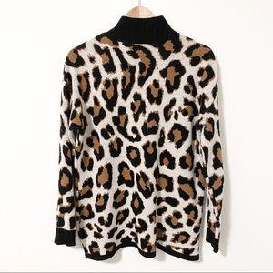 Saks Fifth Avenue Leopard Print Sweater - Sz S 🐾
